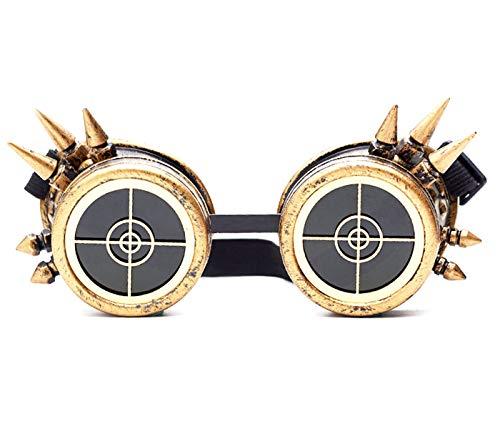 ZAIQUN - Gafas de soldar Estilo Vintage, Estilo Steampunk