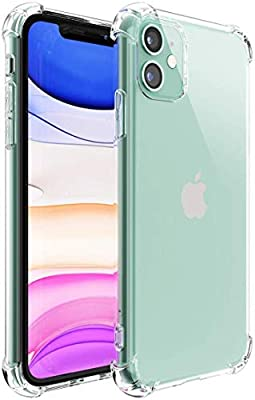iPhone 11 Case?Upgraded Add Shock Absorption Technology Bumper Soft TPU Clear Cover Case for Apple iPhone 11 6.1 inch (2019) - (Bright)