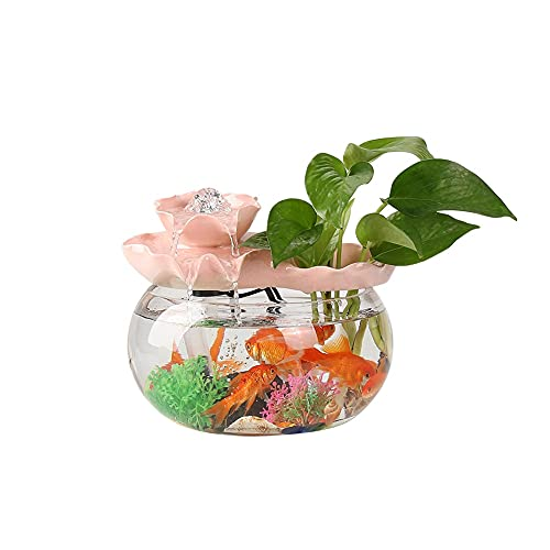 YSMLL Arredamento per la casa Piccolo soggiorno serbatoio di pesce dispositivo di acqua decorazione decorazione fontana desktop nuovo