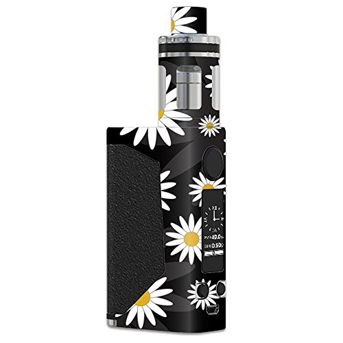 MightySkins Skin Compatible with JoyeTech eVic Primo – Daisies | Protective, Durable, and Unique Vinyl Decal wrap Cover | Easy to Apply, Remove, and Change Styles | Made in The USA