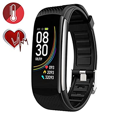 RRLOM Blood Oxygen SpO2 Heart Rate Monitor Blood Pressure Fitness Activity Tracker with Low O2 Reminder, IP67 Waterproof Smart Watch with HRV Sleep Health Monitor Smartwatch for Android iOS Phones