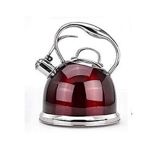 FHISD Tetera de té La Mejor Tetera de silbido quirúrgica de Acero Inoxidable Moderna de inducción - Tetera para la Parte Superior de la Estufa