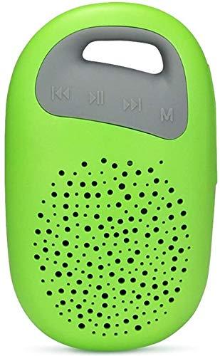 Mopoq Mini Wireless Bluetooth Lautsprecher - Tragbare Subwoofer Outdoor Sports Mini / 60mm X 29mm X 100mm Lautsprecher (Color : Grün)
