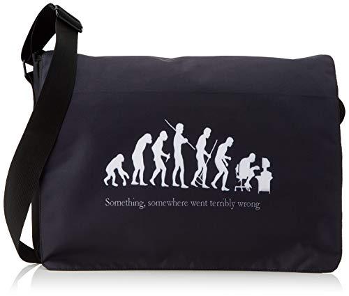 Luxburg® Design Umhängetasche, Umhängetasche, 15,6 Zoll, Motiv: Evolution von Geek