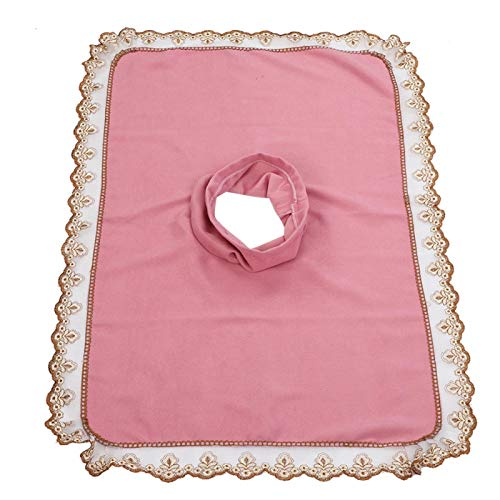 50 * 80 cabeza de mesa de masaje, cepillos para el cuidado de pieles y pezuñas hoja de cubierta con orificio Belleza spa cabeza de cama toalla masaje colchón cara acostada [rosa]