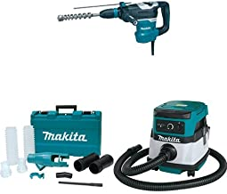 Makita HR4013C 1-9/16-Inch Advanced AVT Rotary Hammer, accepts SDS-MAX bits, 196537-4 Dust Extraction Attachment, XCV04Z 18V X2 LXT (36V) 2.1 Gallon HEPA Filter Dry Dust Extractor/Vacuum