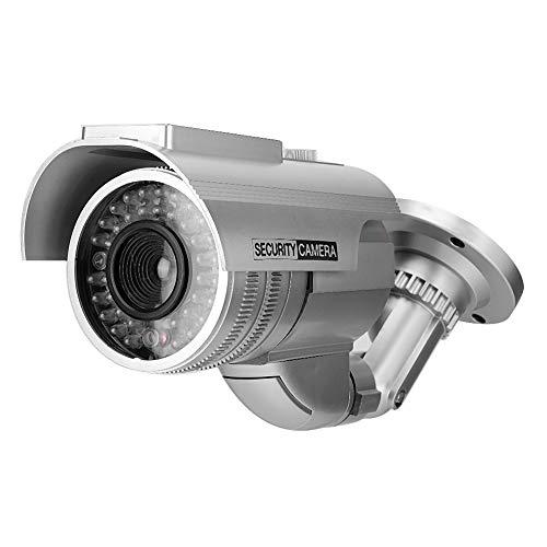 Kamera Dummy Überwachungskamera, Dummy Kamera Solar Power Kugel Form LED Gefälschte Kamera Simulationsmonitor