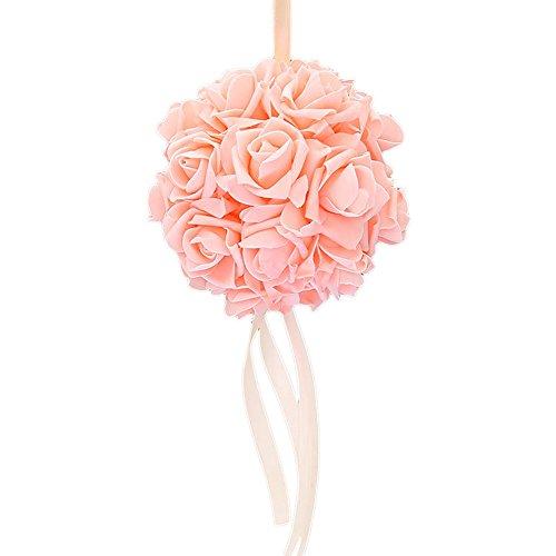 Guoyihua Blumenkugeln für Hochzeit, dekorative Blumen, künstliche Schaumstoffblumen, Rosenkugeln für Hochzeit, Tischdekoration, Schaumstoff, Tooth Color, 14 cm