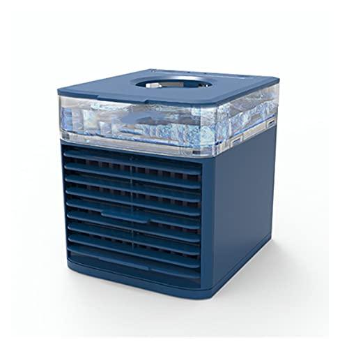 HJUIK Ventilador Enfriador de Aire Mini Aire Acondicionado Escritorio 3 Velocidades Ventilador de Refrigeración por Agua Portátil Purificador Humidificador (Color : Blue)
