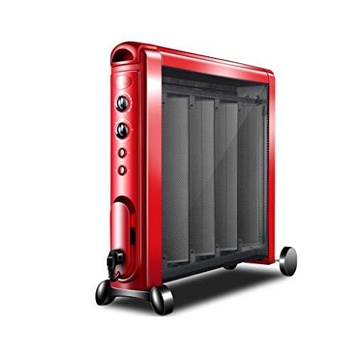 JinDun JD Calentador eléctrico Panel de Mica Calentamiento por convección 2 Fuentes de alimentación Protección contra sobrecalentamiento Vertical 2100W Rojo