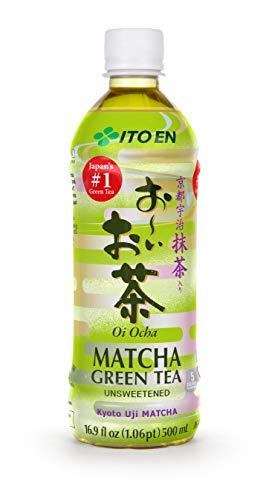 Oi Ocha Matcha Green Tea Unsweetened, 16.9 Ounce Bottle (Pack of 12), Sugar Free