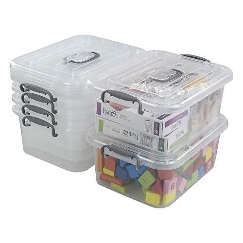 Zerdyne - Cajas de almacenamiento de plástico transparente de 7 litros con...