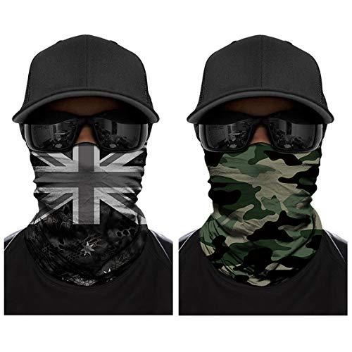 ECOMBOS Multifunktionstuch - Gesichtsmaske Bedrucktes Schädel Lätzchen Sport Reiten Sonnencreme Maske Schlauchtuch Halstuch Bandana Ski Motorrad