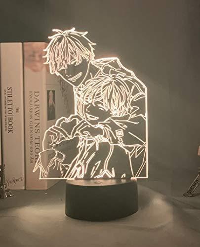 Luz nocturna LED 3D para decoración de Pascua, acrílico, lámpara 3D BL Anime Given luz para dormitorio, decoración colorida de noche BL lámpara de mesa GIVEN LED luz nocturna MAOJIE