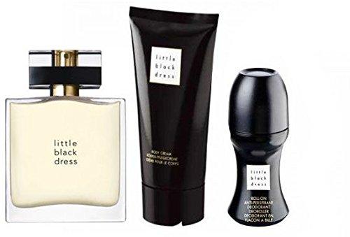 Avon Little Black Dress Parfum-Set 3tlg. klassisch/elegant Eau de Parfum Spray, Bodylotion, Deoroller