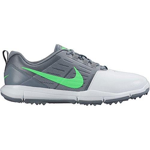 Nike Nike Herren Explorer Lea Golfschuhe, Plateado/Verde/Gris (Pure Platinum/Rg Green-Cl Gry), 45 EU