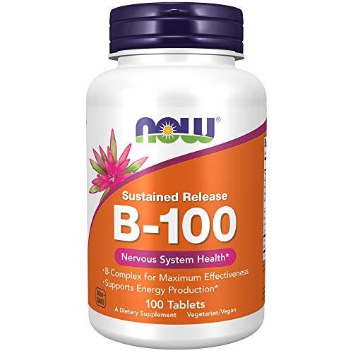 Now Foods La vitamina B-100 de liberación sostenida - 100 tabletas 100 Unidades 180 g