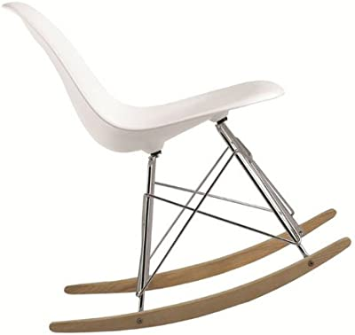Fine Mod Imports Rocker Side Chair, White