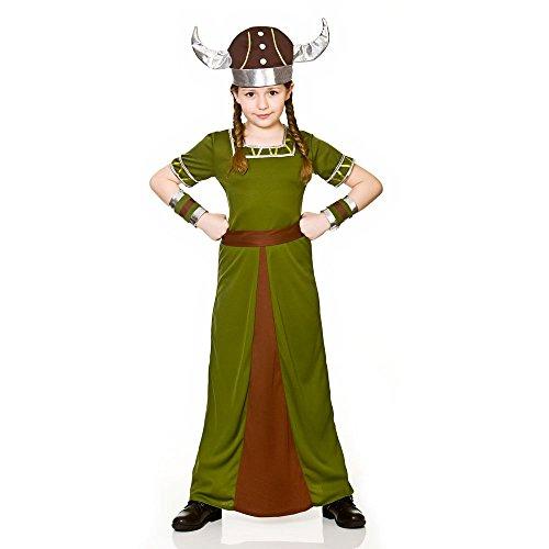 Filles Viking Costume historique: Taille grand (8-10 ans)