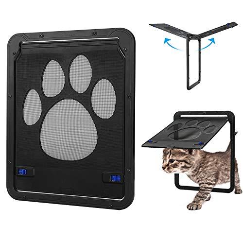 Hundeklappen katzenklappe automatisch, Haustier Bildschirm Türklappe Abschließbar Atmungsaktiv, Hundetür Katzentür Haustierklappe (11.4inchx9.4inch)