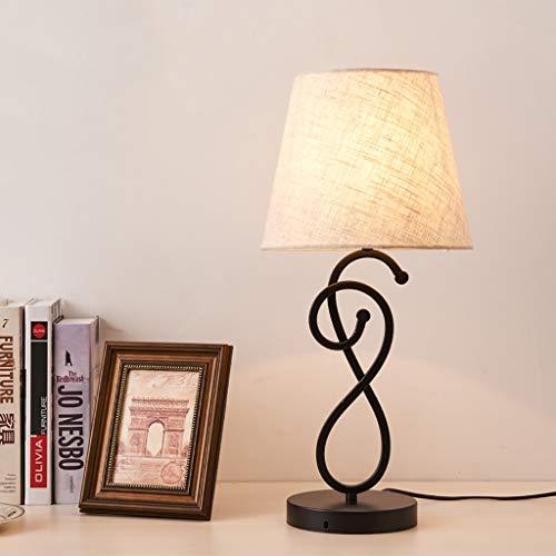 DZLXY bedlamp, minimalistisch beddengoed, slaapkamerlicht, led modern nachtkastje, bureaulamp met stoffen lampenkap voor slaapkamer, woonkamer, kinderkamer