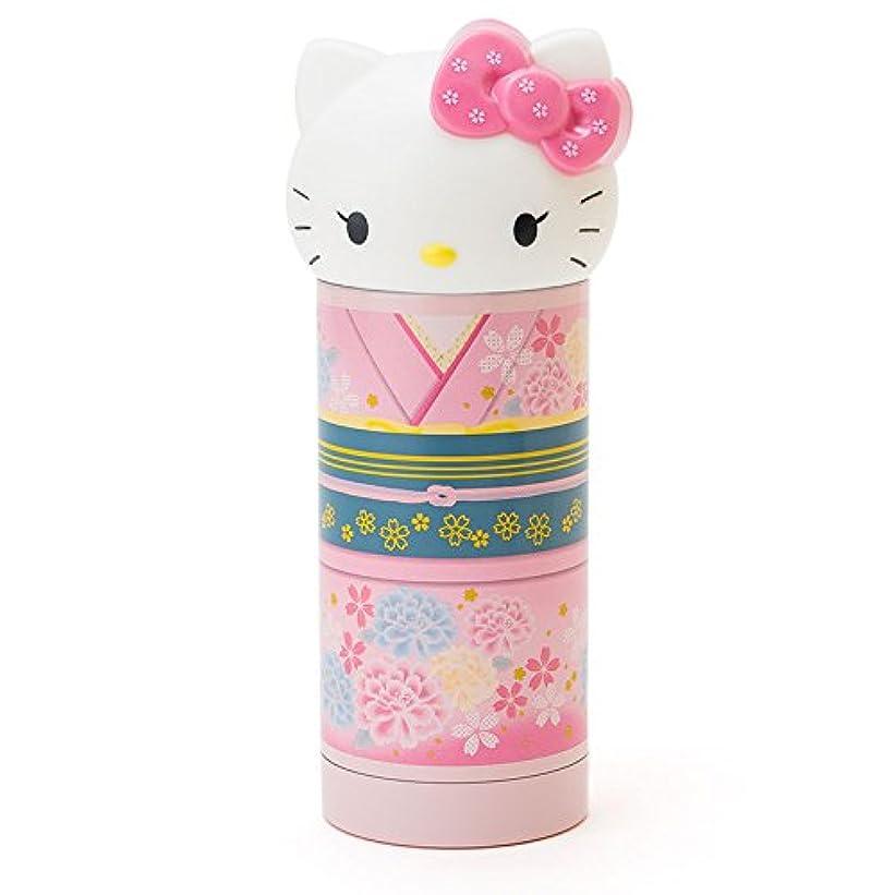 公使館反対した差ハローキティ ステンレスマグボトル(和装) ピンク