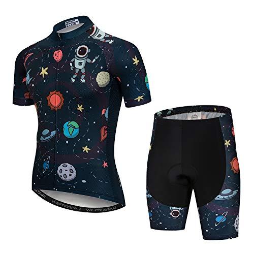 Herren Radtrikot und Shorts Set Kurzarm Fahrradtrikot und Shorts Bergbekleidung Sommerbekleidung Quick-Dry