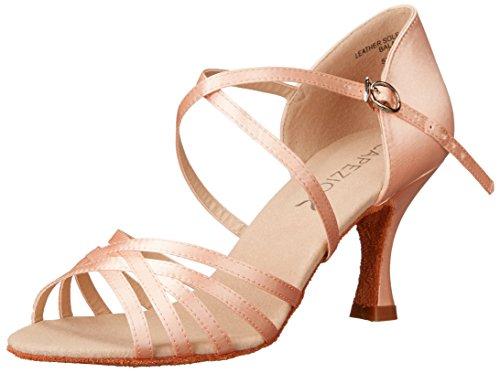 """Capezio Women's Rosa 2.5"""" Social Dance Shoe, Camel Satin, 6.5 W US"""