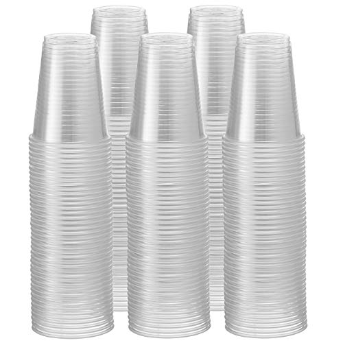 Comfy Package [Pack de 500-200ml - 7 oz] - Vasos Desechables de plástico Transparente - para Fiestas