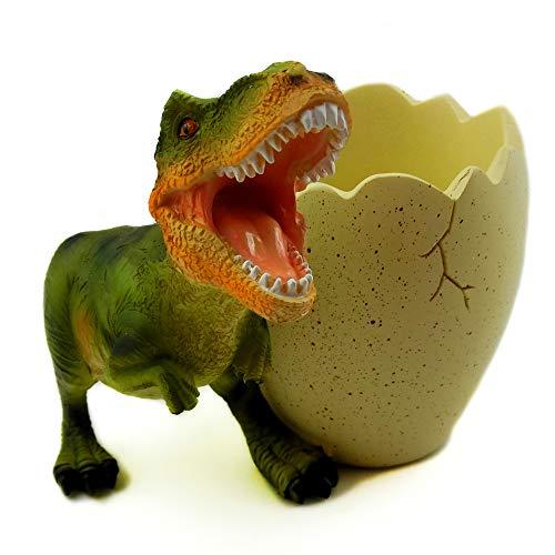 Pot à crayons en forme d'œufs de dinosaure, décoration de dinosaure, fournitures de bureau pour enfants, garçons (Tyrannosaurus Rex)