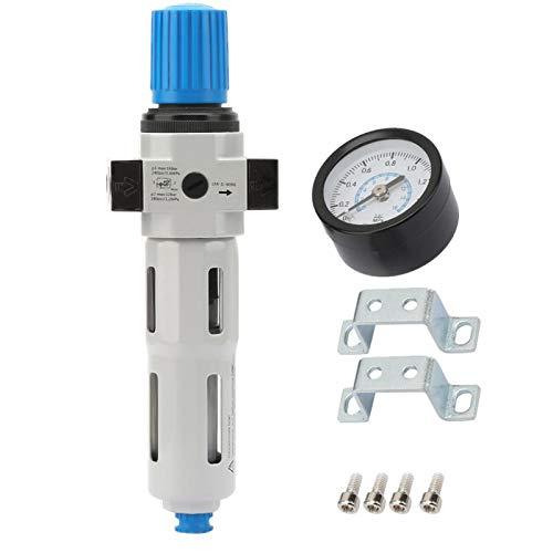 Regulador de presión de filtro de aire G1/4', combo Piggyback miniatura válvula reductora de presión, filtro compresor de aire de aleación de aluminio con manómetro
