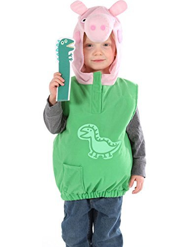 George Dino Peppa Pig Dress Up Outfit Fancy Dress Costume 2/4 YEARS