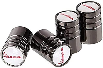 Cubierta de neumático a prueba de polvo antirrobo de aleación de aluminio cubierta de válvula de neumático de coche accesorios de neumáticopor Vespa Piaggio Px 125 lX50150 180ss Piaggio Beverlyscooter
