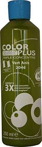 Pro G Déco Vert ANIS Colorant Ultra Concentré 250 ML Color Plus pour Toutes peintures décoratives et bâtiments. Performances Extrêmes.