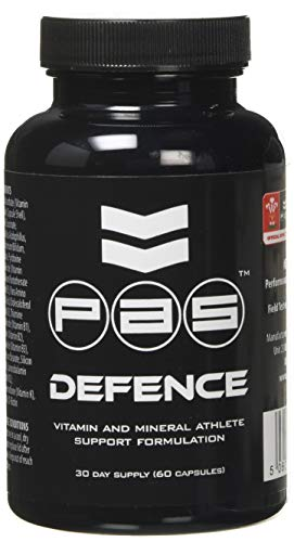Pro Athlete Supplementation Defense Vitamin and Mineral Capsules - Pack of 60 Capsules