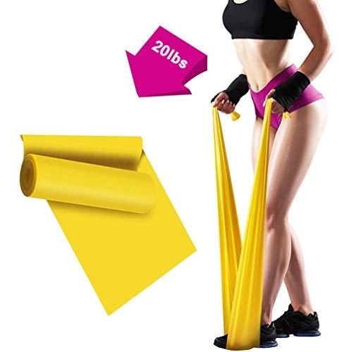ERUW Bande Elastiche Fitness, 2 m Fasce Elastiche Resistenza Bande per Fisioterapia, Pilates, Yoga, Niabilitazione, Stretching, Fitness, Allenamento della Forza (Yellow)