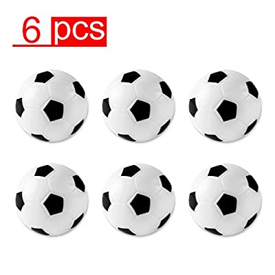 Table Soccer Foosballs Replacements Mini Black and White Soccer Balls (6 Pack) by Super Z Outlet