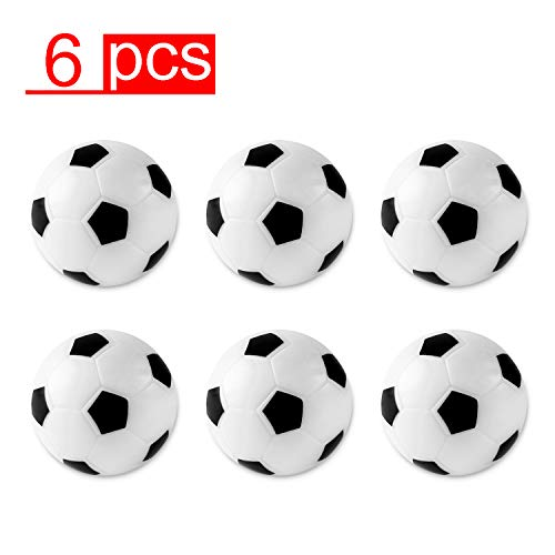 Table Soccer Foosballs Replacements Mini Black and White Soccer Balls (6 Pack)