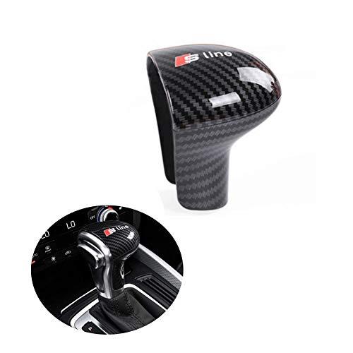 Carbon Fiber Gear Shift Knob Cover Sticker Head Trim for Audi A4 A5 A6 S6 A7 S7 Q5 Q7