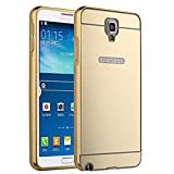 PANXIYUE Coque Samsung Galaxy Note 3 Neo Lite N750 N7505 Aluminium Miroir Coloris Or...