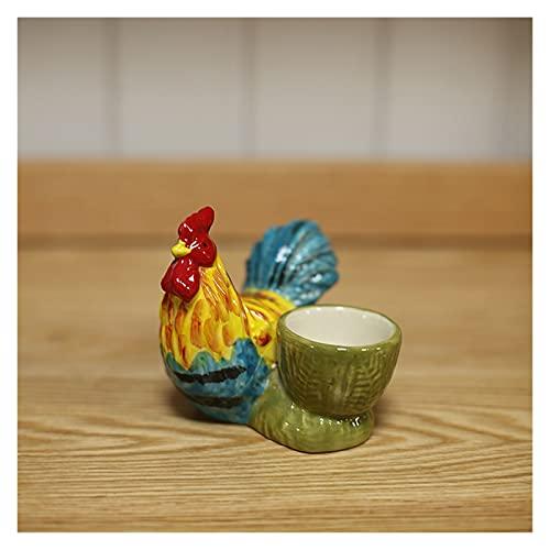 Hueveras Bandeja de huevo de cerámica Forma de pollito lindo Forma de huevo Copa de huevo Almacenamiento de vajilla Decoración de cocina Decoración de huevos decoración de la cocina casera