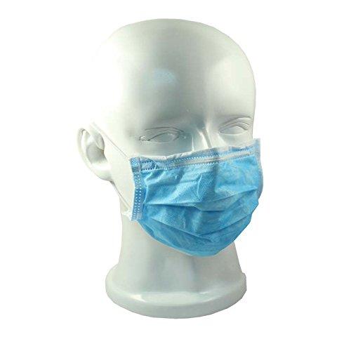 OP-Mundschutz mit Gummizug 50er Pack verschiedene Farben (blau)