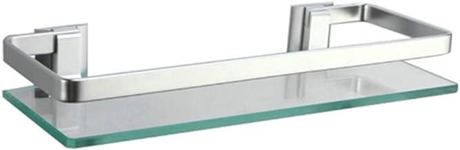 Badkamer glazen plank, badkamer opslag muur, muur gemonteerde ijdelheid, cosmetica, gratis ponsen toiletspiegel (50CM, tra...