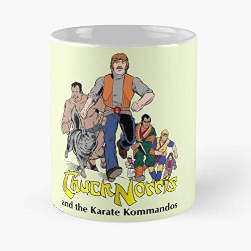 5TheWay and Chuck Fullteam Karate Black The Kommandos Norris Standardkaffee 11 Unzen Geschenk Tassen für alle
