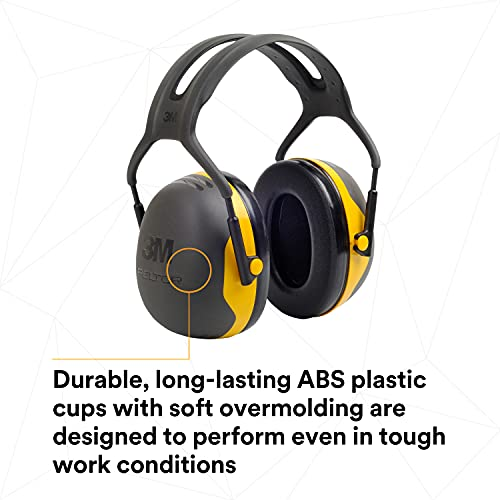 3M Peltor X2A Over-the-Head Ear Muffs, Noise Protection, NRR 24 dB, Construction, Manufacturing, Maintenance, Automotive, Woodworking