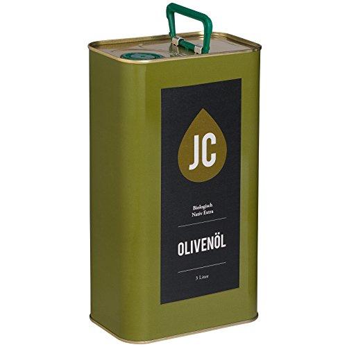 JC Huile d'Olive Biologique Extra Vierge - Kalamata AOP en 3 conteneur - 3l
