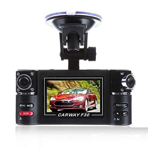 FUTN Doppeltes Objektiv, das Recorder mit 1080P HD 120 ° Weitwinkel-Sprachausstrahlungs-Infrarot-Nachtsicht-Auto fährt