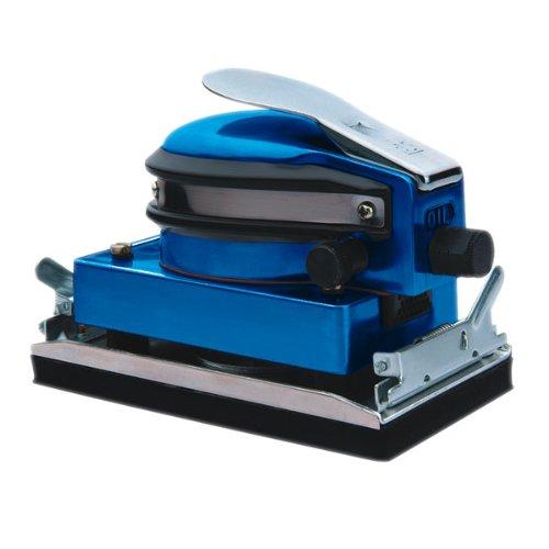 Mauk Druckluft Schwingschleifer inkl. 5 Schleifpads & Kupplungsstück - Schleifer Schleifmaschine Exzenterschleifer