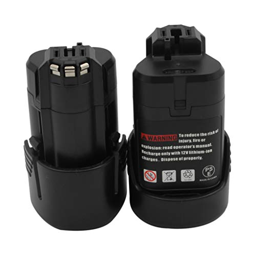 KINSUN 2-Pack Reemplazo Herramienta Eléctrica Batería 10.8V 1.5Ah Li-Ion Para Bosch Taladro Inalambrico Destornillador 2 607 336 013 2 607 336 014 BAT411 BAT411A BAT412A GDR 10.8-LI GMF 10.8 V-LI GSR 10.8 V-LI2 GUS 10.8 V-LI y más