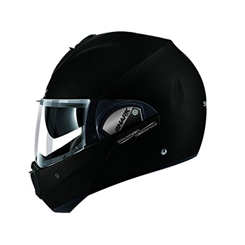 SHARK EVOLINE 3-Casco, color negro mate, talla XL, color negro